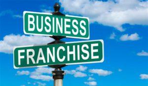Указатели Business и Franchise на фоне неба